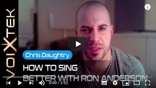 Chris Daughtry testimonial about working with Ron Anderson to improve his singing